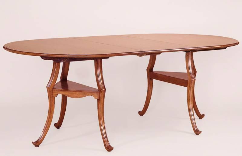 8125 English Hepplewhite Style Fruitwood Dining Table
