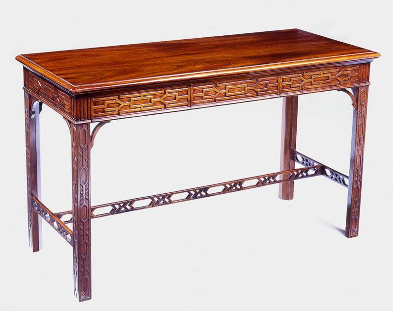 8230 Chippendale Style Mahogany Sofa Table